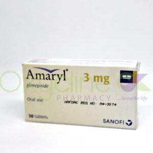 Amaryl 3mg Tabs X30