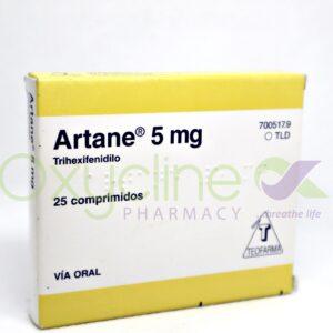 Artane 5mg X25tabs Pack Benzhexol