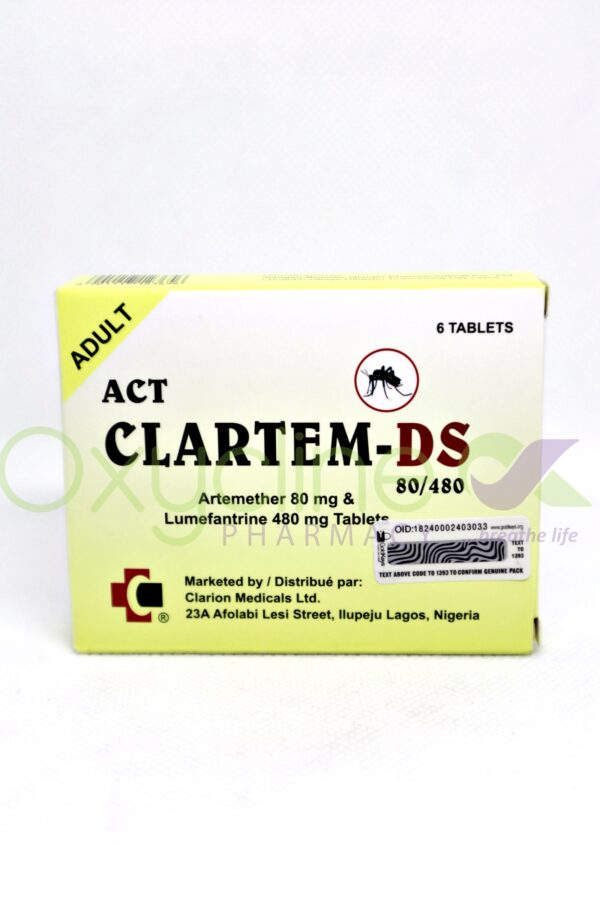 Clartem Ds Tabs 80/480mg X 6