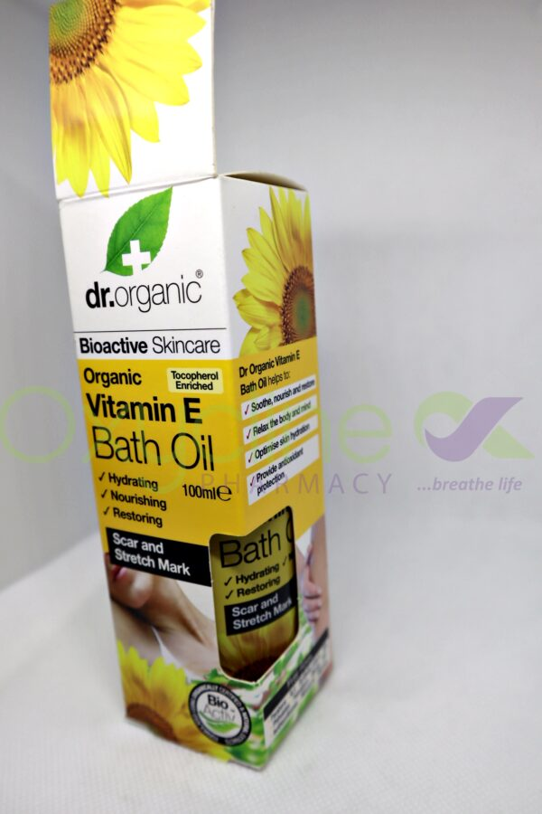 Dr Organic Vitamin E Bath Oil 100ml