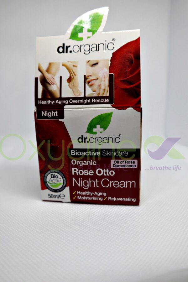 Dr Organic Rose Otto Night Cream 50ml