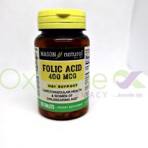 Folic Acid Mason 400mg X100