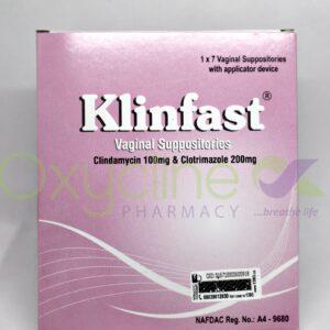 Klinfast Vag Supp 100/200mg X 7
