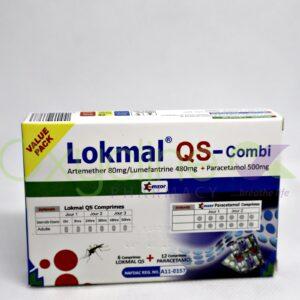 Lokmal Qs Comb 80/480mg + Paracetamol 500mgtab X6/12