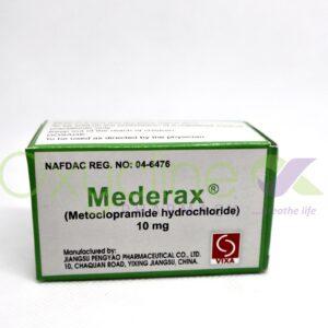 Mederax (Metoclopramide) Tabs 10mg X10