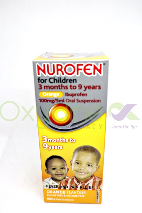 Nurofen For Child Susp (Orange(3mnth-9yrs 100