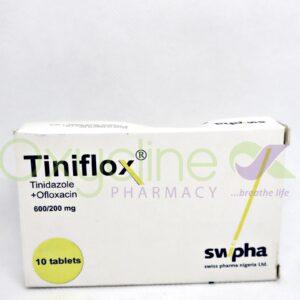 Tiniflox 600/200mg X10